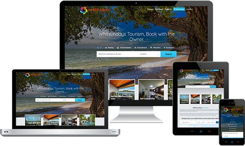 Whitsundays Tourism displayed beautifully on multiple devices