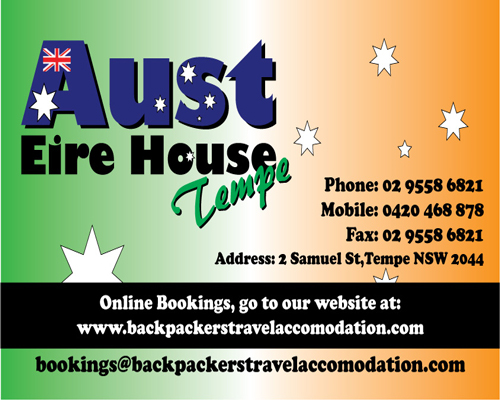 Aust Eire House Tempe - Whitsundays Tourism