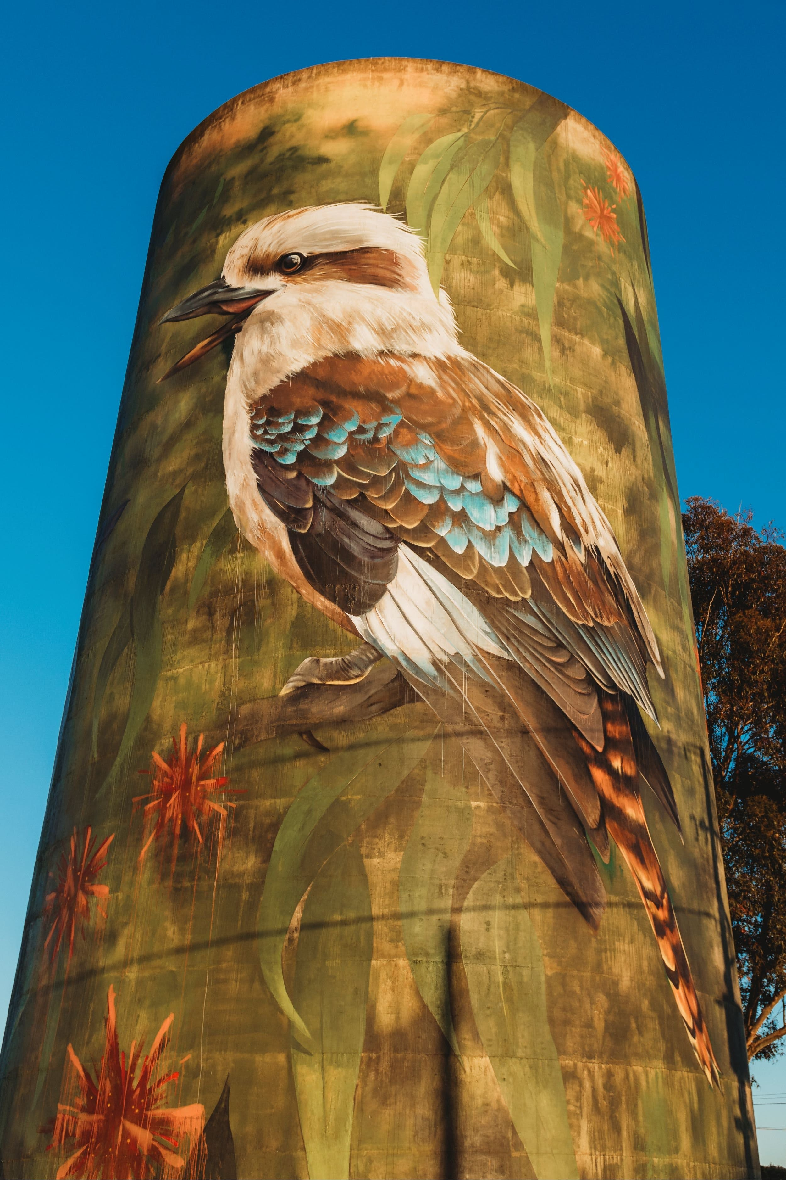 Deniliquin Water Tower Mural - Whitsundays Tourism