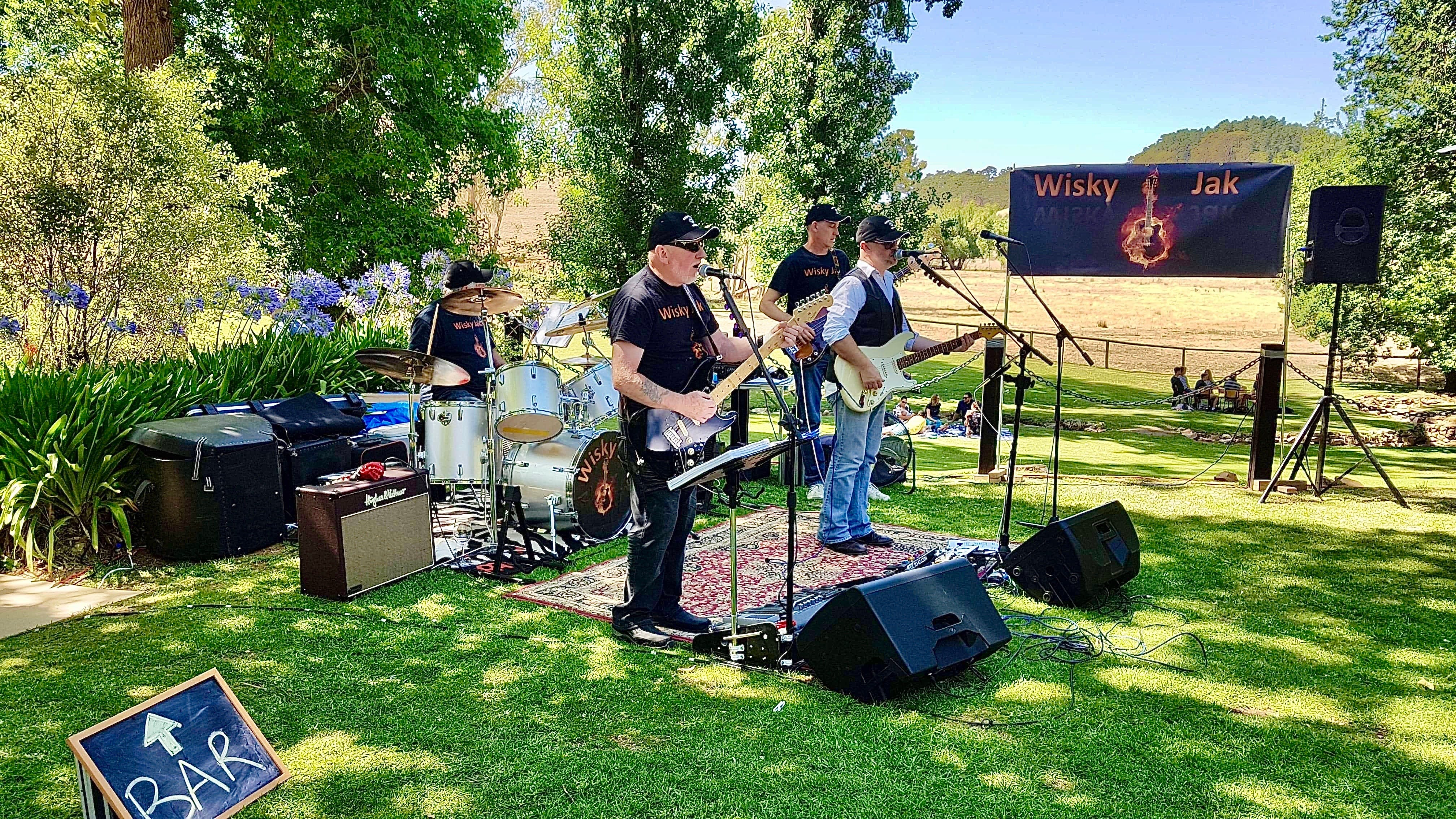 Angas Plains Wines Live in the Vines with the band -Wisky Jak - Whitsundays Tourism
