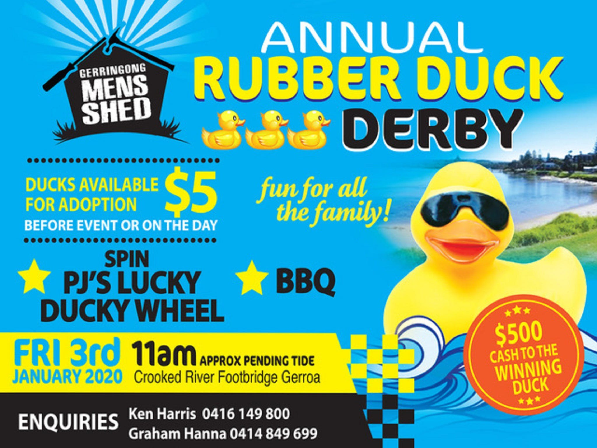 Gerringong Mens Shed Annual Duck Derby - Whitsundays Tourism