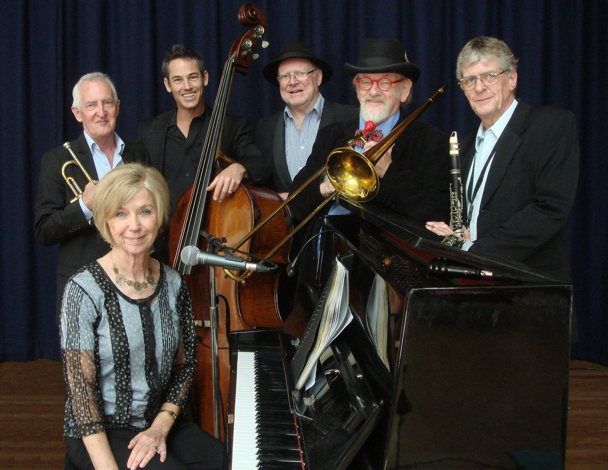 The Caxton Street Jazz Band in the Swigmore Hall at Robert Channon Wines - Whitsundays Tourism